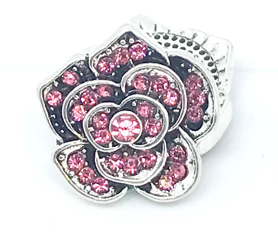 Pretty Pink Crystal Flower Snap