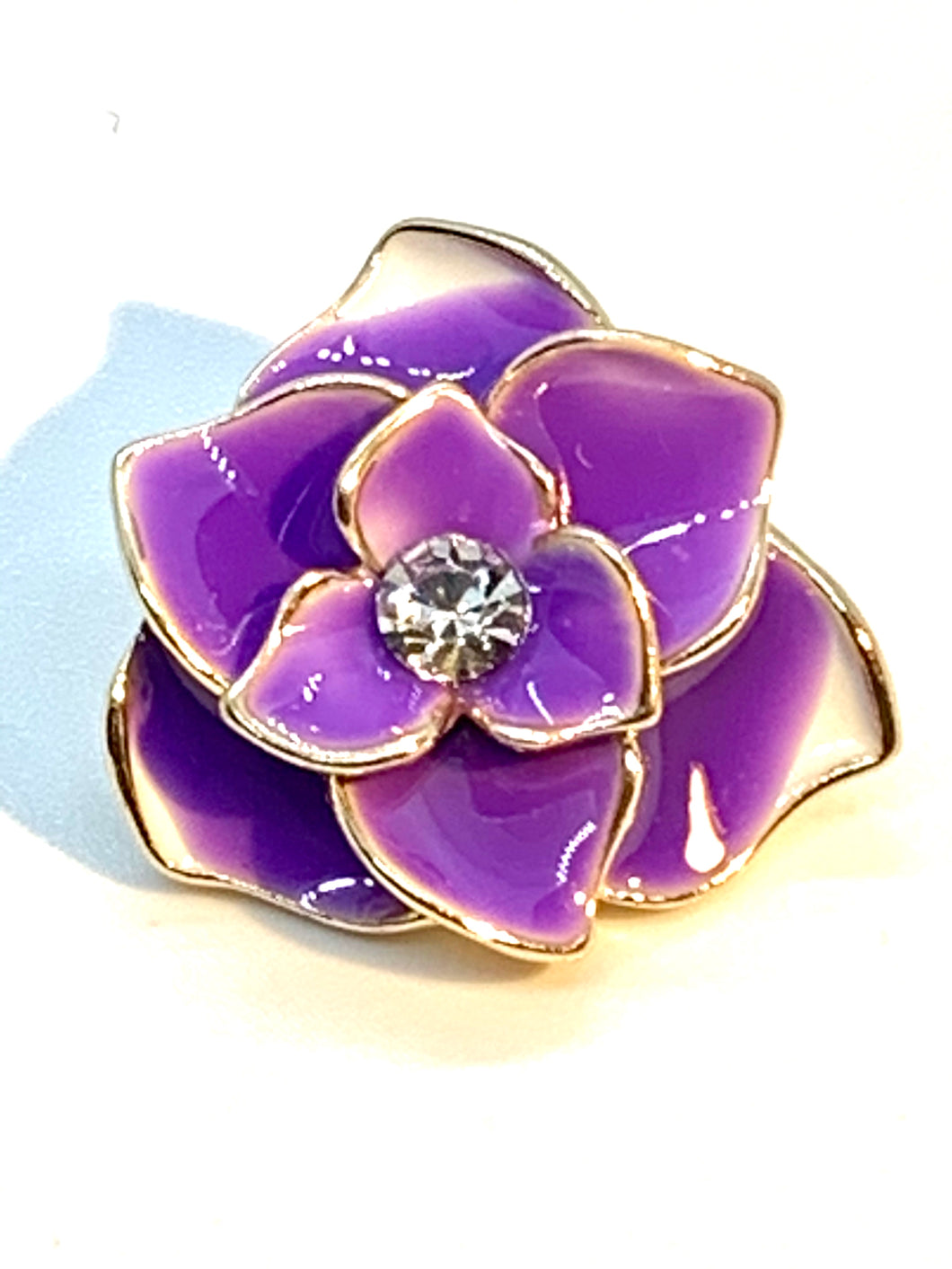 Purple Enamel Flower Snap