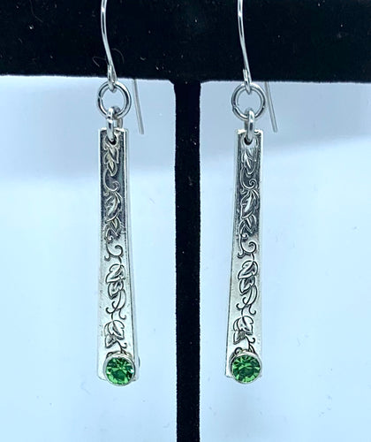 """Silver Lace"" Earrings"