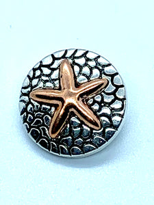 Copper Starfish and Silver Snap