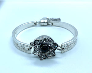 """Silver Lace"" Snap Bracelet, snap not included, different sizes available."