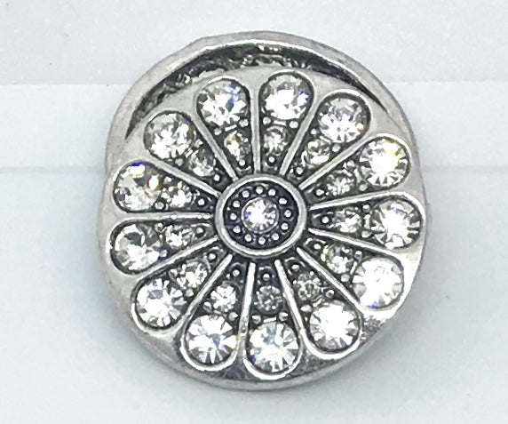 Beautiful Round Flower Crystal Snap