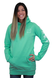 women square hoodie turquoise