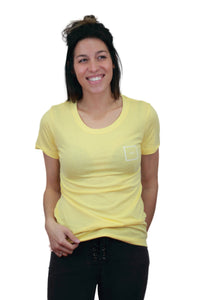 women OG tee yellow