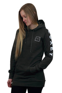 women square hoodie charcoal