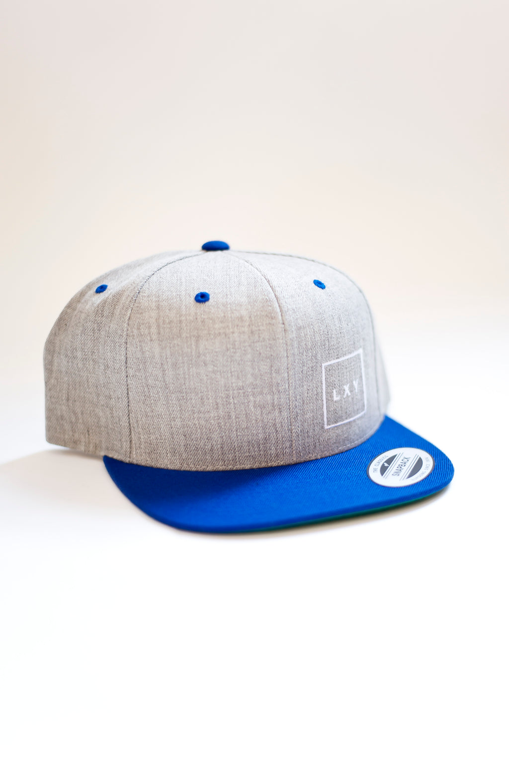 square cap snapback heather/blue