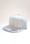 LXY cap flexfit snapback heather grey