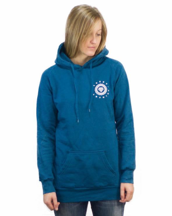 women diamond hoodie blue