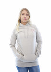 women square hoodie heather grey
