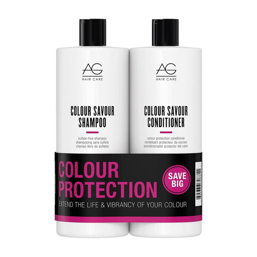 AG Hair Colour Savour Shampoo, Conditioner Liter Duo