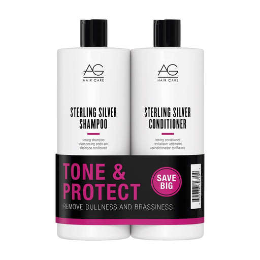 AG Hair Sterling Silver Shampoo, Conditioner Liter Duo
