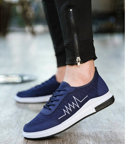 Top quality Men Shoes New 2017 Hot Spring Canvas Men Casual Shoes Breathable Round Lace-Up Flats British Style Mens Shoes