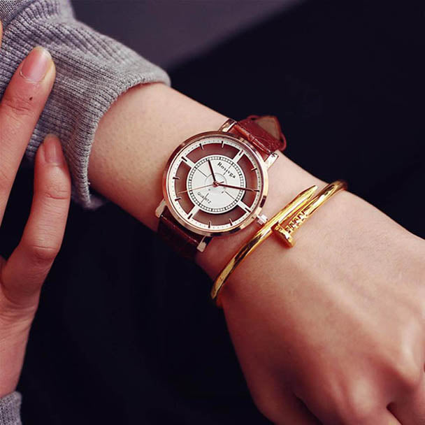 2017 Fashion Brand Hollow Watch Neutral Personality Simple Unique Wrist Watches Men Woman Watch Clock Relogio Feminino Saat