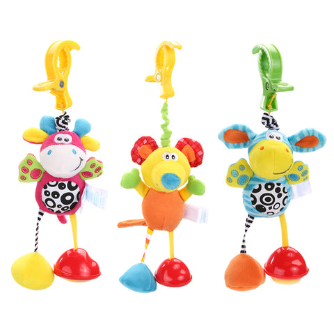 New Hot Infant Toys Mobile Baby Plush Toy Bed Wind Chimes Rattles Bell Toy Baby Crib Bed Hanging Bells Toys
