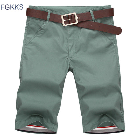 FGKKS 2017 Mens Shorts New Summer Fashion Casual Cotton Slim Bermuda Masculina Beach Shorts Joggers Trousers Shorts Male