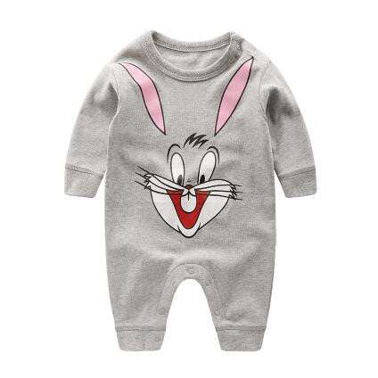 2018 spring - Autumn baby boy clothing Cotton Long Sleeved baby boy clothes ,cartoon Beard Gentleman baby romper Infantil babies