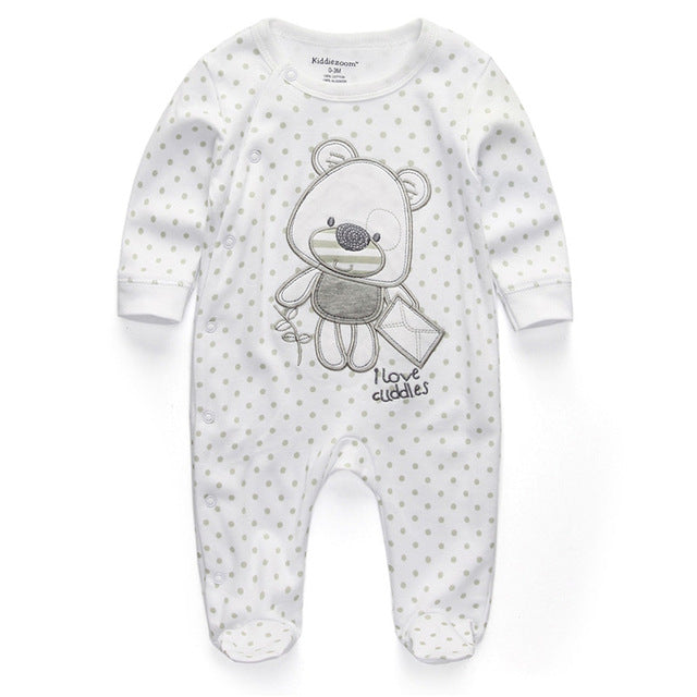 2018 baby clothes Full Sleeve cotton infantis baby clothing romper cartoon costume ropa bebe 3 6 9 12 M newborn boy girl clothes