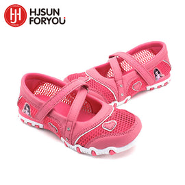 2018 New Summer High Quality Non-slip Children Shoes Girls fashion Sandals Cartoon Princess Sandals Kids Flat