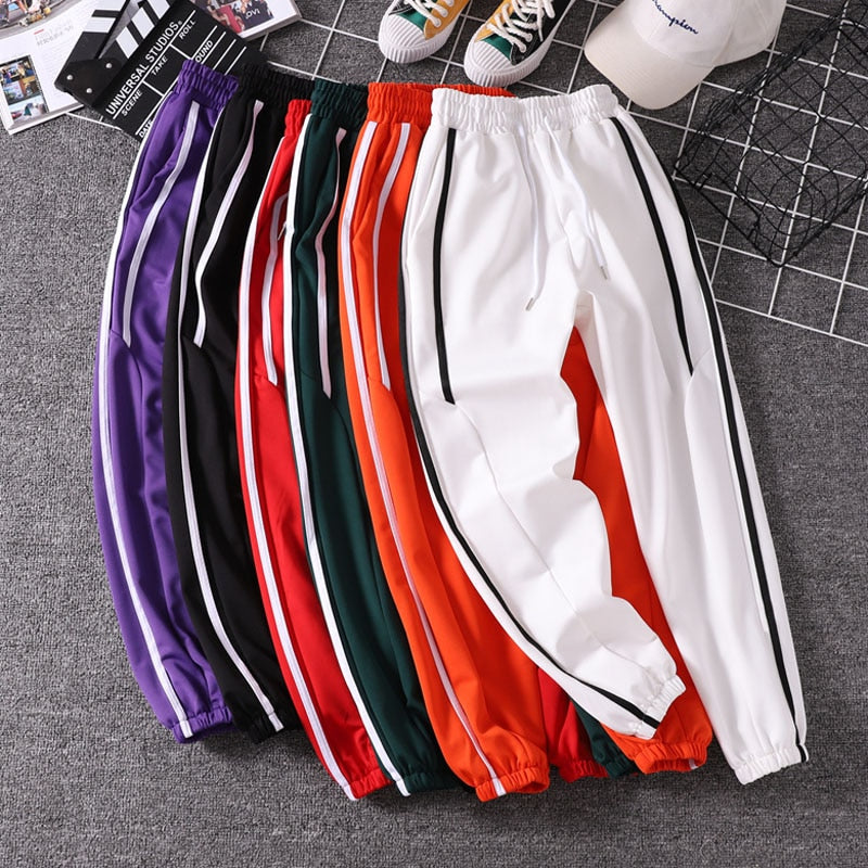 Women Jogger Pants 2019 New Arrival Spring And Autumn Black White Red Purple Green Female Pants Student Teenager Girls N06