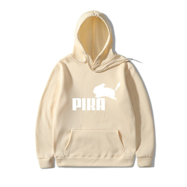 2019 New Brand Fashion Lovely Pokemon Sweatshirts hoodie Men Anime Pika Hoodies Pikachu Men/Women Cotton Hoodies Sweatshirts