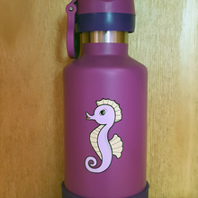 Load image into Gallery viewer, Cheeki Insulated Kids Bottle 400ml - Seahorse
