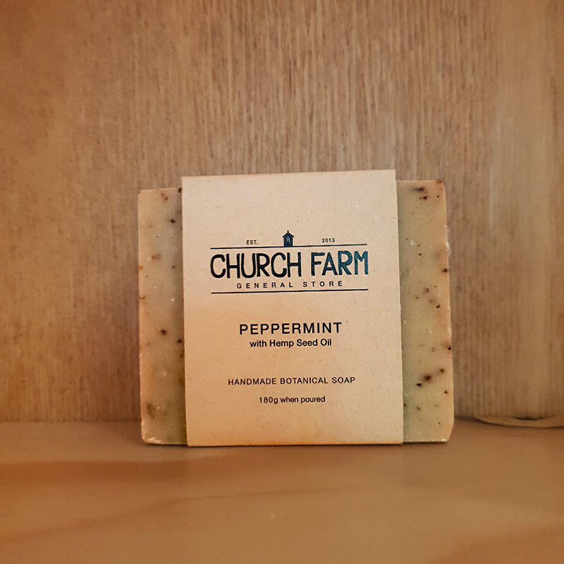 Church Farm Peppermint Hemp Seed Oil Soap
