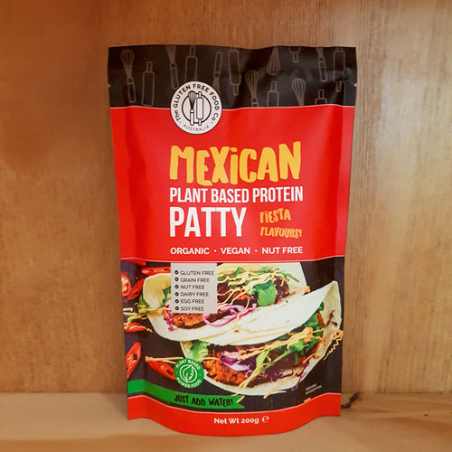 Gluten Free Food Co Gluten Free Mexican Plant Protein Patty 200g
