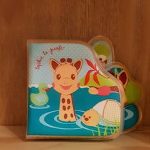 Load image into Gallery viewer, Sophie The Giraffe Bath Book 4m+