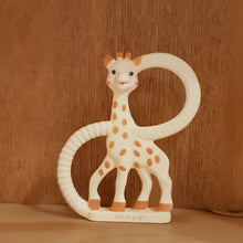 Load image into Gallery viewer, Sophie The Giraffe Teething Ring 0m+