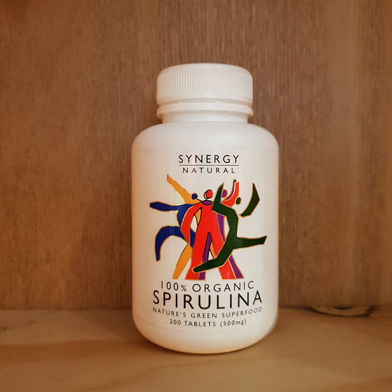 Synergy Natural 100% Organic Spirulina Natures Green Superfood 200 Tablets