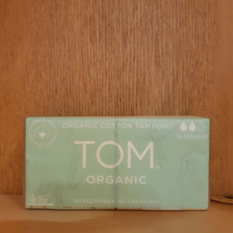 Tom Organic Cotton Tampons - 16 Regular