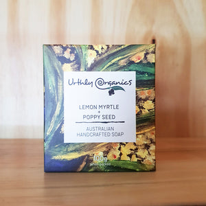 Urthly Organics Lemon Myrtle & Poppy Seed Soap 100g
