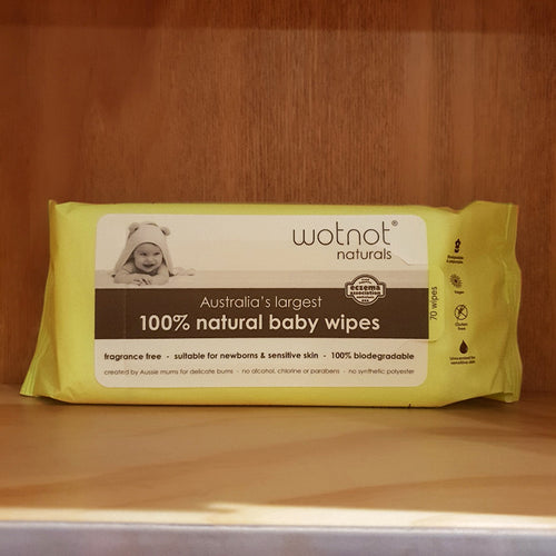 Wotnot 100% Natural Baby Wipes - 70