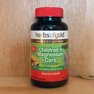 Herbs Of Gold Childrens Magnesium Care 60 Chewable Tablets
