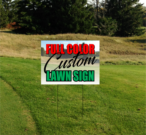 Coroplast Lawn Sign Step Stake