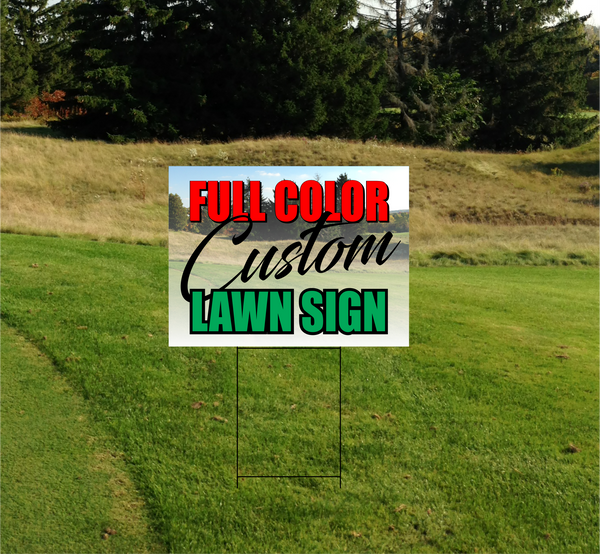 "Double Sided Coroplast Lawn Sign 4mm - 18"" x 24"""
