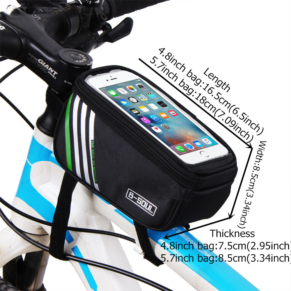 UPANBIKE Bike Front Frame Bag Single Pouch With Transparent Touch Screen  B714