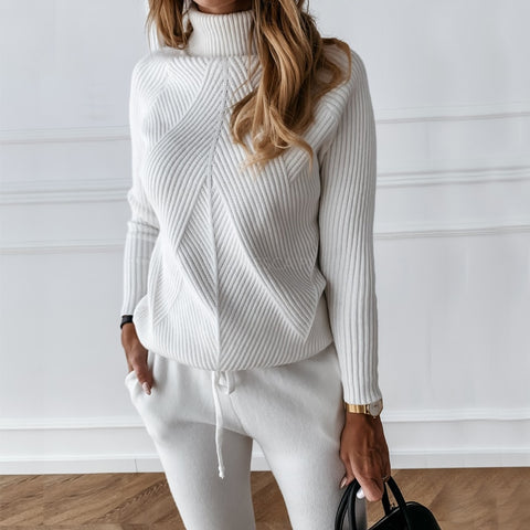 Knitted Sweater & Jogger Two-Piece