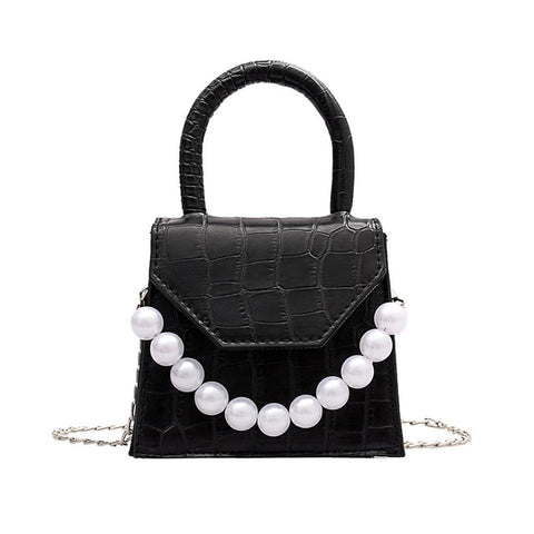 Oeak Pearl Handle Super Mini Shoulder Bag