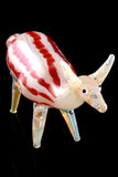 Silver Fumed Glass Deer Pipe - AP251