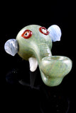 Silver Fumed Glass Elephant Head Pipe - AP256