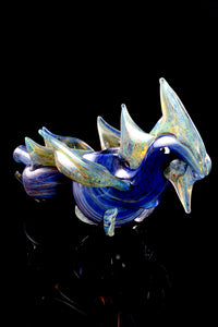 Silver Fumed Glass Dragon Pipe - AP257