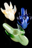 Silver Fumed Glass Swan Pipe - AP258
