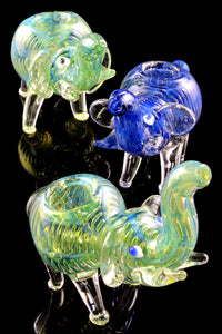 Color Changing Bubble Glass Elephant Pipe - AP259
