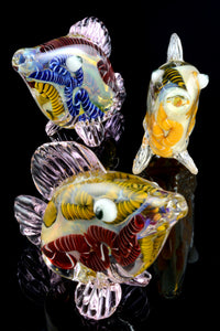 Color Changing Striped Glass Fish Pipe - AP261