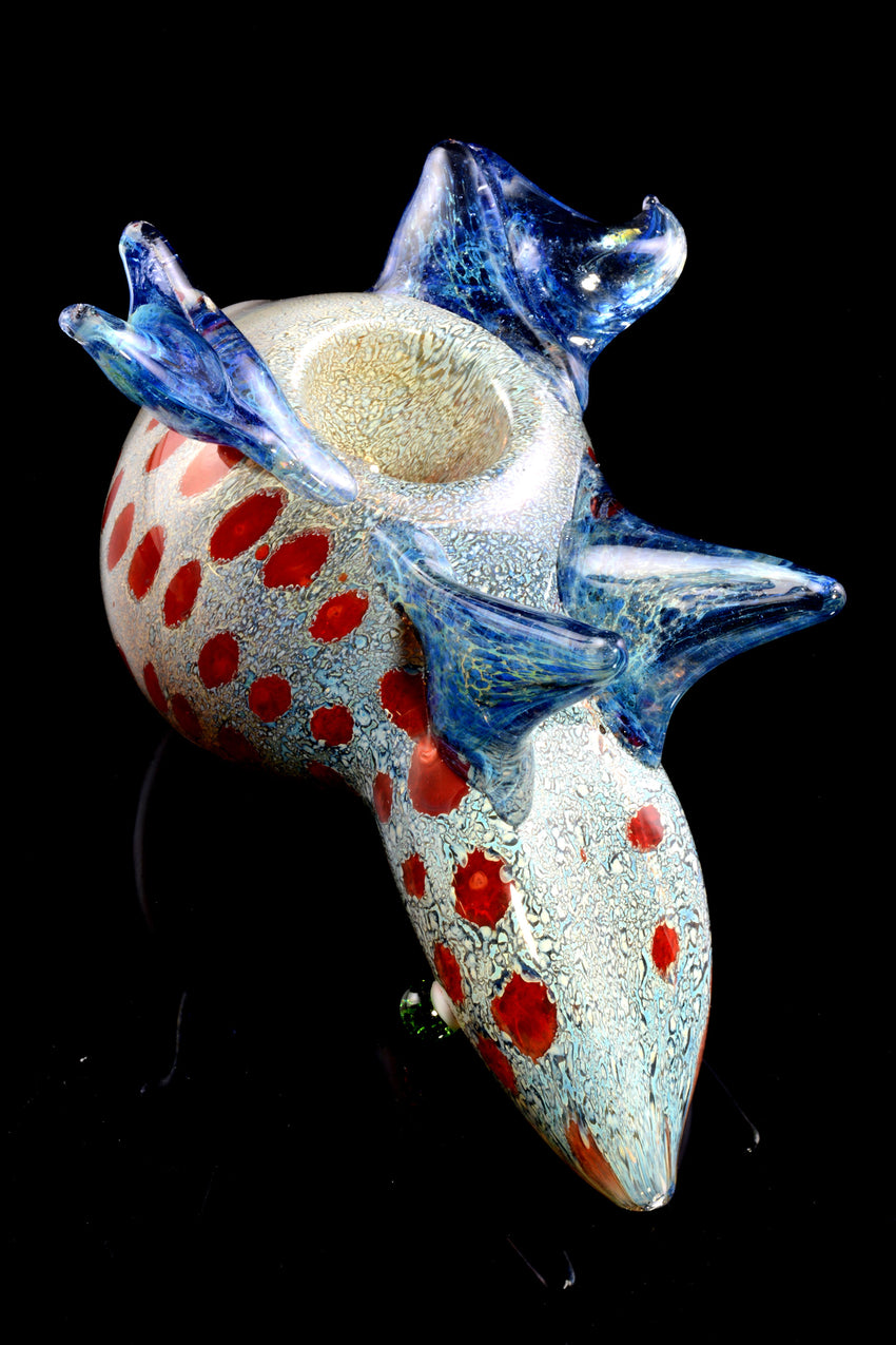 Color Changing Silver Fumed Glass Frog Pipe - AP272