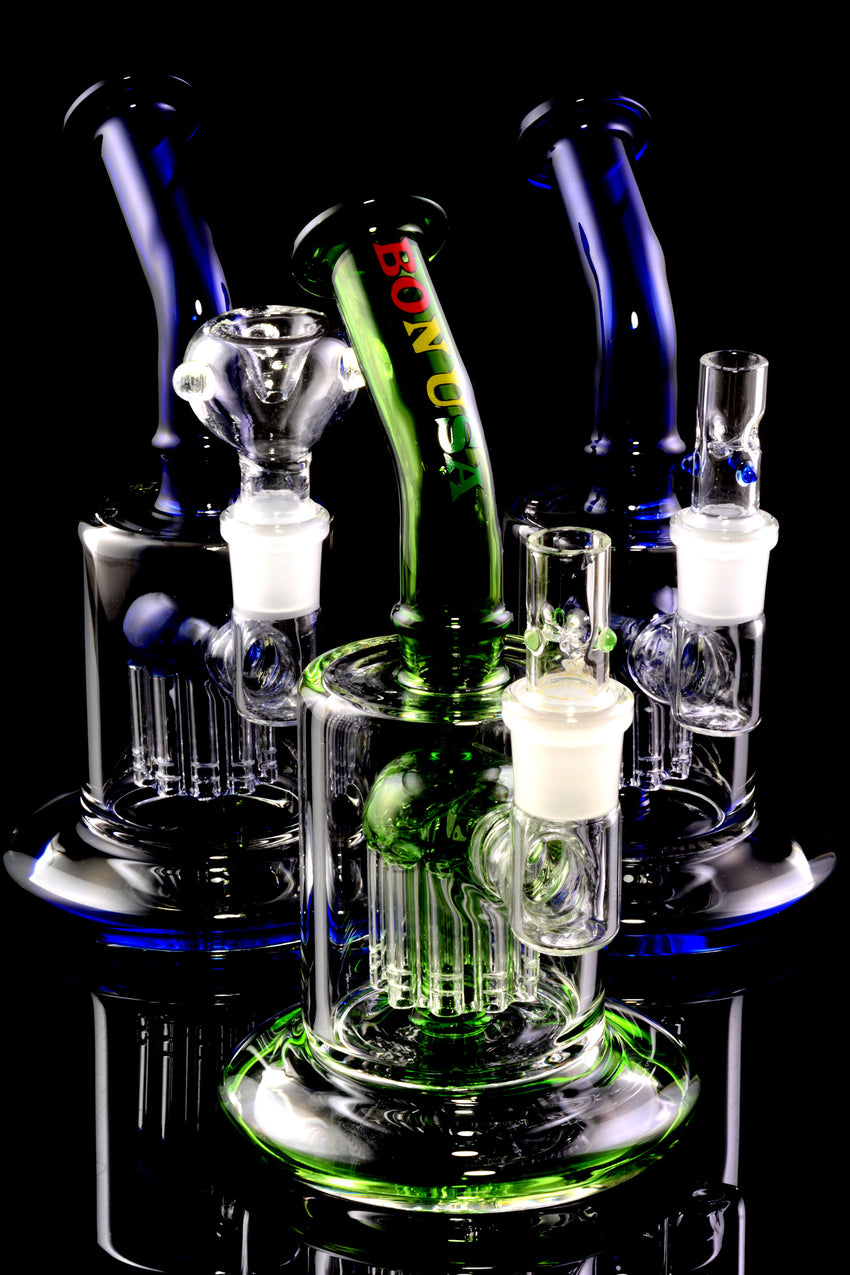 Thick Stemless GoG Bent Neck Water Pipe with Tree Perc - B0308