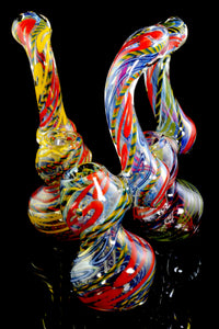 Medium Color Changing Sherlock Glass Bubbler - B0988