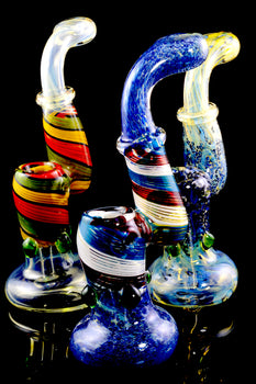 Large Color Changing Sherlock Glass Bubbler - B1030
