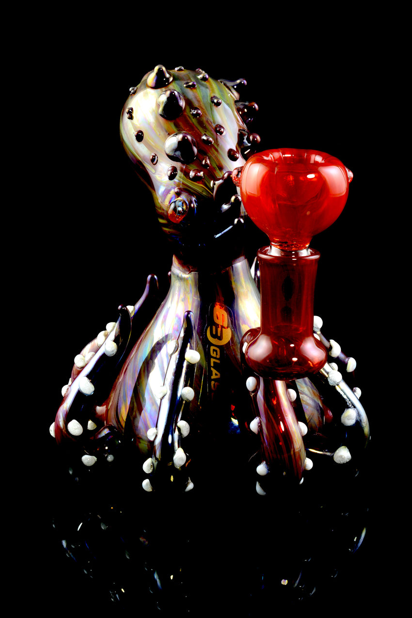 Metallic Glass Octopus Bubbler - B1044